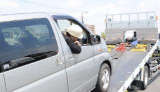 事故車・不動車の車両輸送の流れ